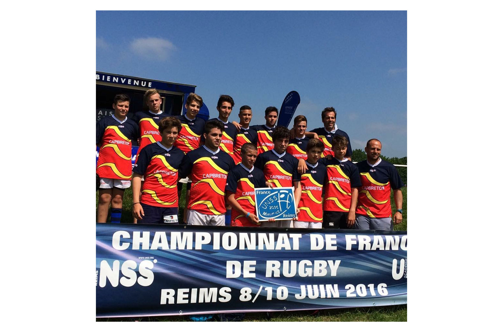 Jean Rostand Capbreton Champion de France UNSS Rugby