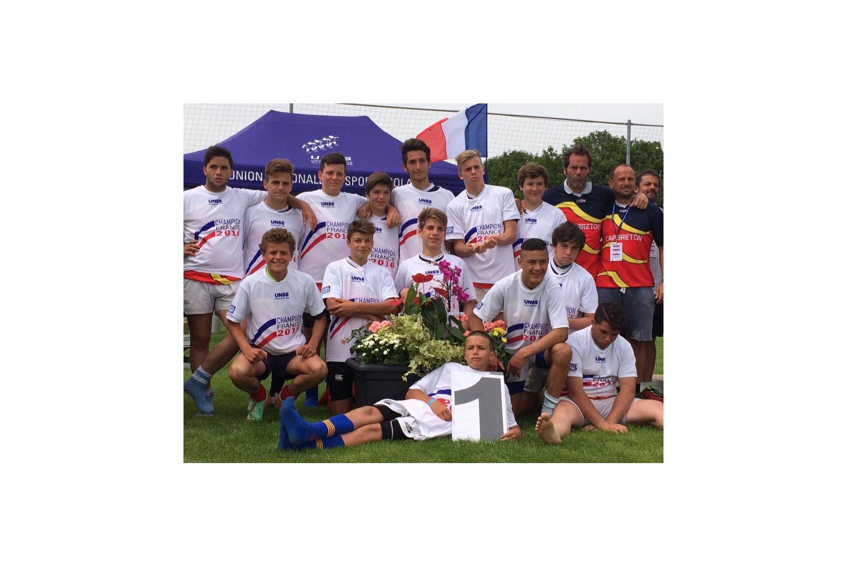 Équipe Championne de France UNSS Rugby