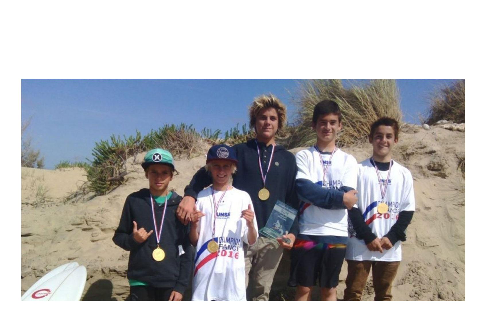 Équipe Championne de France UNSS Surf